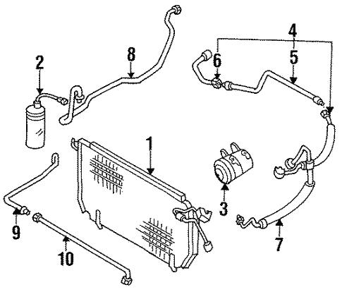 Condenser Compressor Lines For 1994 Nissan 240sx
