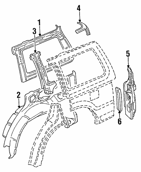 Inner Structure for 1995 Mitsubishi Montero #0
