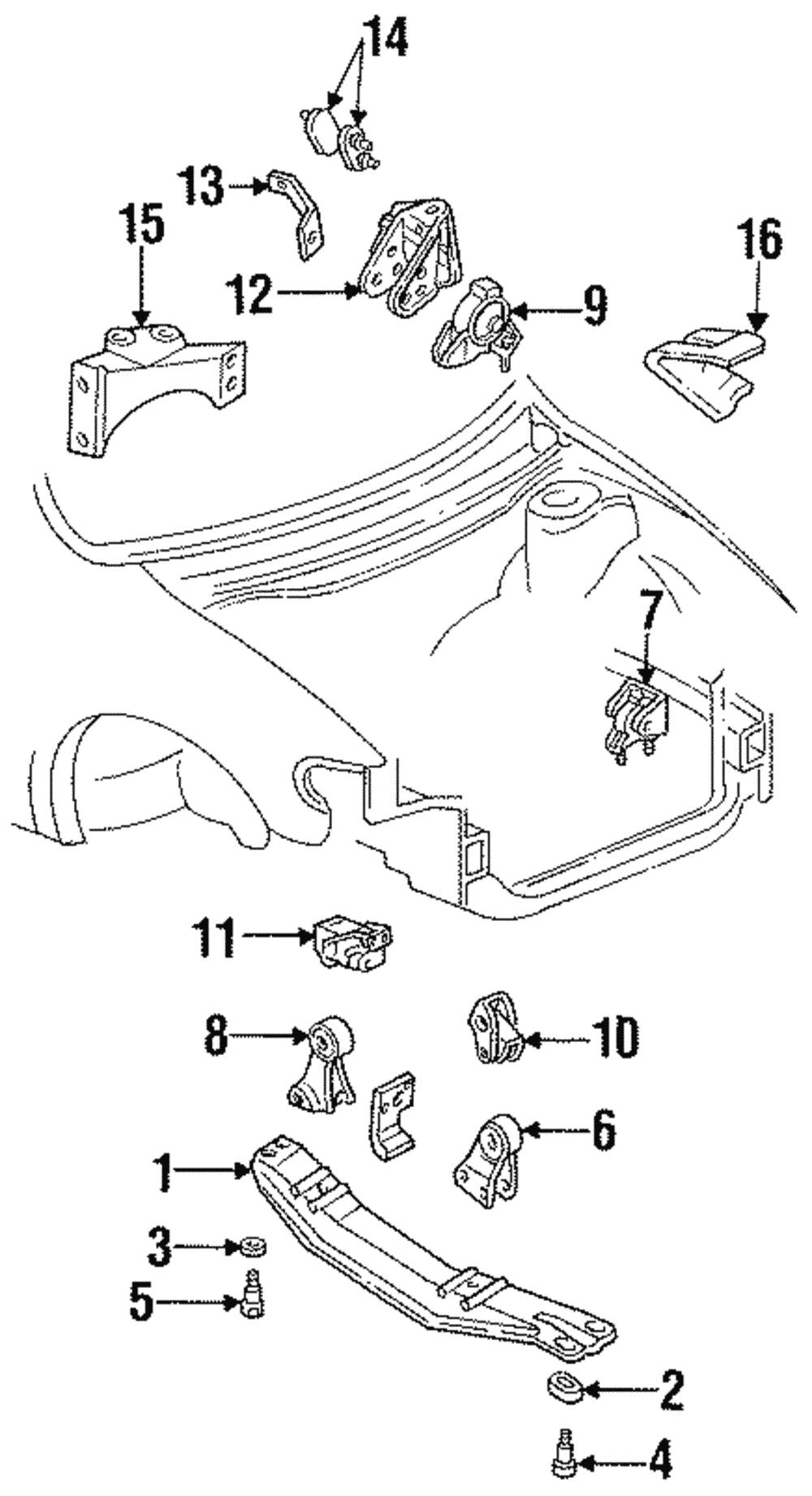 93-02 MERCURY VILLAGER DRIVER SIDE ENGINE MOTOR MOUNT ...