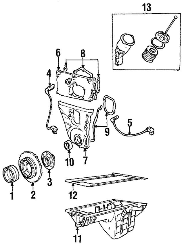 1997 Bmw 318i Engine Sensors Model