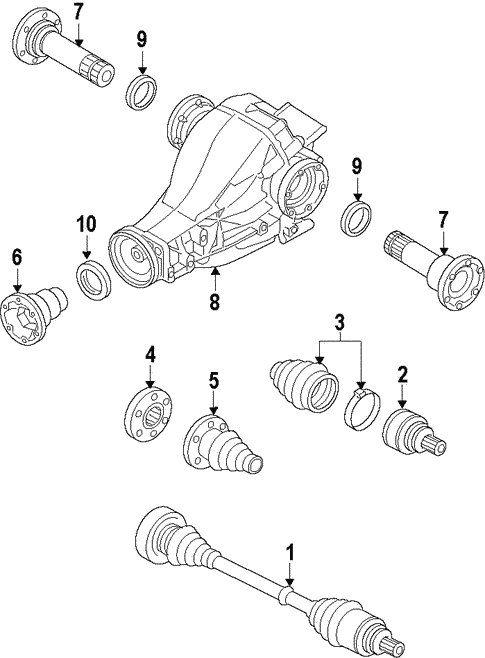 Drive Axles For 2010 Audi A4