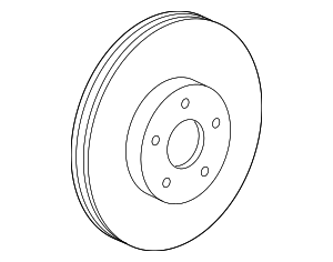 Disc Brake Rotor - Mercedes-Benz (221-423-10-12-07)