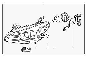 Headlamp - GM (26221313)