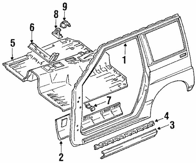 1989 1991 Suzuki Sidekick Molding 7753660a105pk