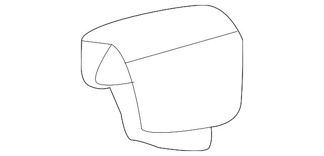 Rear Honda Genuine 82131-TM8-A71ZA Seat Cushion Trim Cover
