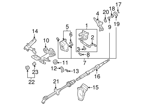 STEERING/SHAFT & INTERNAL COMPONENTS for 2003 Toyota Sienna #1