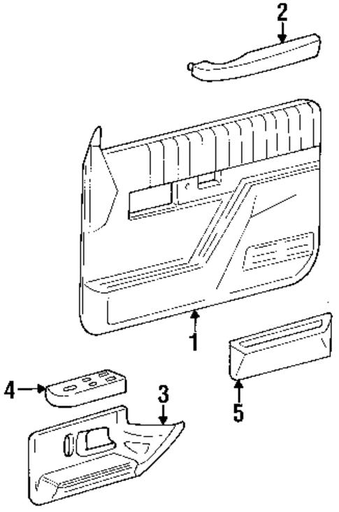 oem 1992 gmc yukon interior trim front door parts. Black Bedroom Furniture Sets. Home Design Ideas