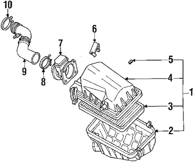 1990 Nissan Axxess Air Duct 16578 30r00