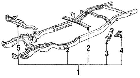 s10 frame diagram frame components for 1991 chevrolet s10  base  gmpartsnow  frame components for 1991 chevrolet s10