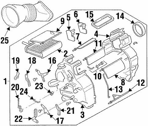 Oem 1999 Chevrolet Metro Heater Parts