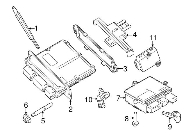 2011 2016 Ford Glow Plug Controller Gc3z 12b533 A