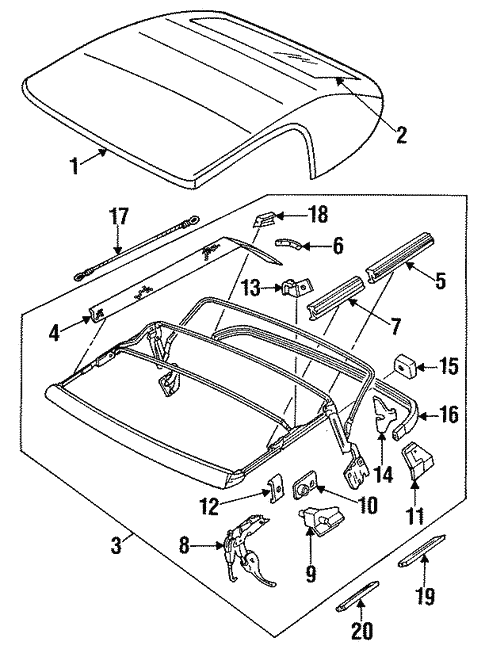 convertible top for 1992 mercury capri