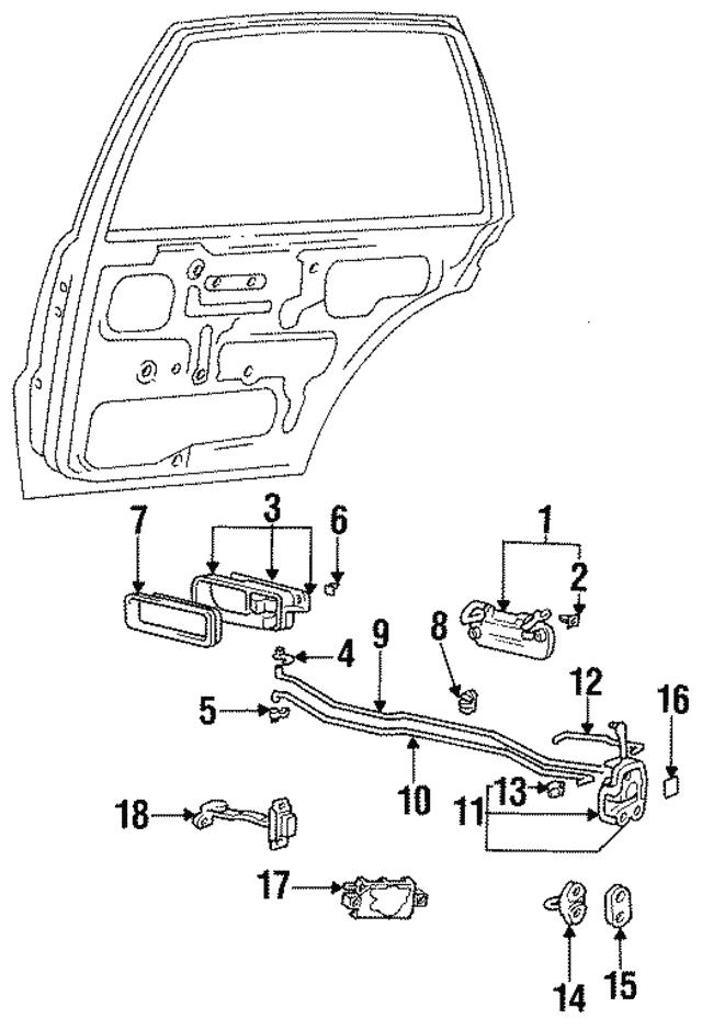 Right Rear Genuine Hyundai 83660-28010 Exterior Door Handle Assembly