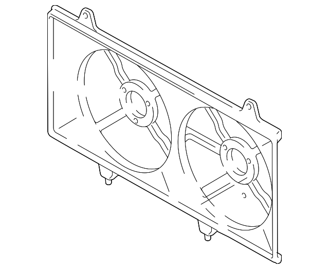Mazda L3M8-15-140A Engine Cooling Fan Blade