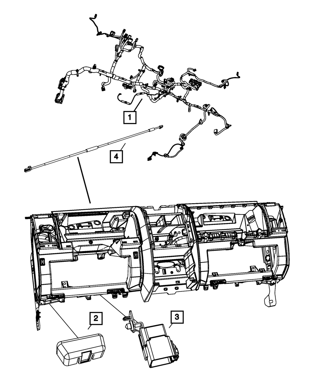 Genuine Chrysler 68053903AB Electrical Instrument Panel Wiring