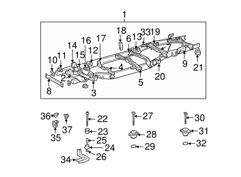 BODY/FRAME & COMPONENTS for 2001 Toyota Tundra #1
