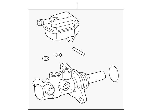 2008 2019 Toyota Master Cylinder 47201 0e060
