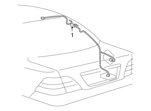 Antenna Radio For 2006 Lexus Ls430