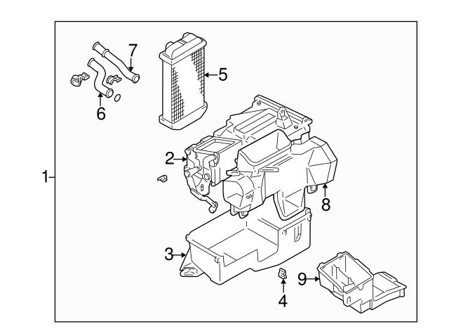 1996 1998 Toyota 4runner Heater Assembly 87150 35132