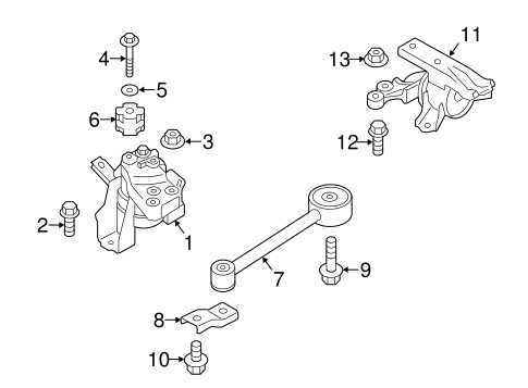 Engine & Trans Mounting for 2014 Mitsubishi Mirage | Auto Parts | 2014 Mitsubishi Mirage Engine Diagram |  | Mitsubishi Parts Warehouse