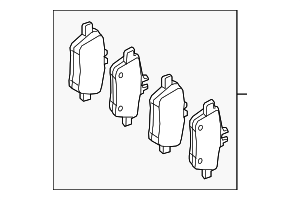 Brake Pads - Mercedes-Benz (007-420-96-20)