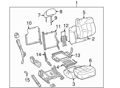 Oem 2006 Chevrolet Silverado 1500 Front Seat Components Parts