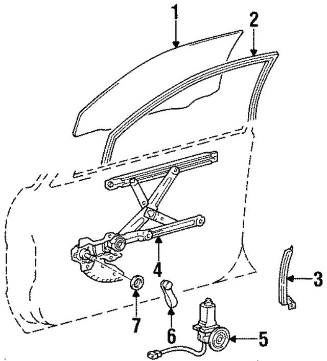 1997 Toyota Paseo Window Regulator 69810 16250