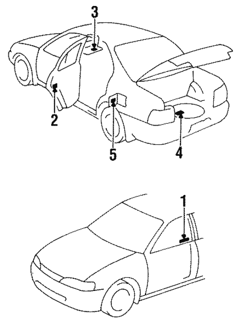 labels for 1995 toyota corolla