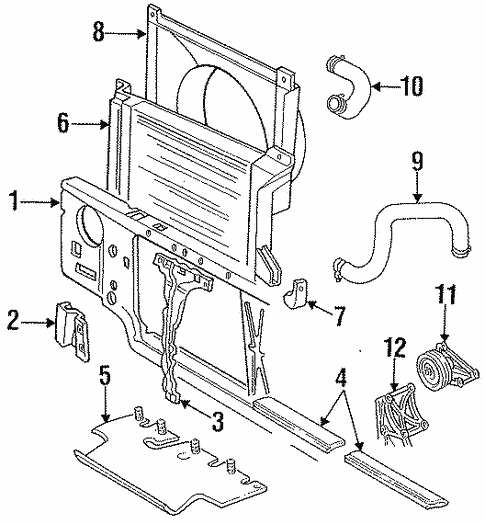 Radiator Support For 1996 Ford F 350