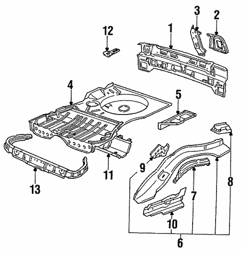 Rear Floor & Rails for 1991 Volkswagen Corrado #0