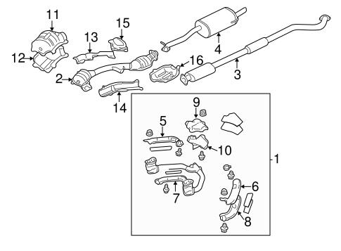 Exhaust Components For 2001 Subaru Outback Subaru Parts Depot