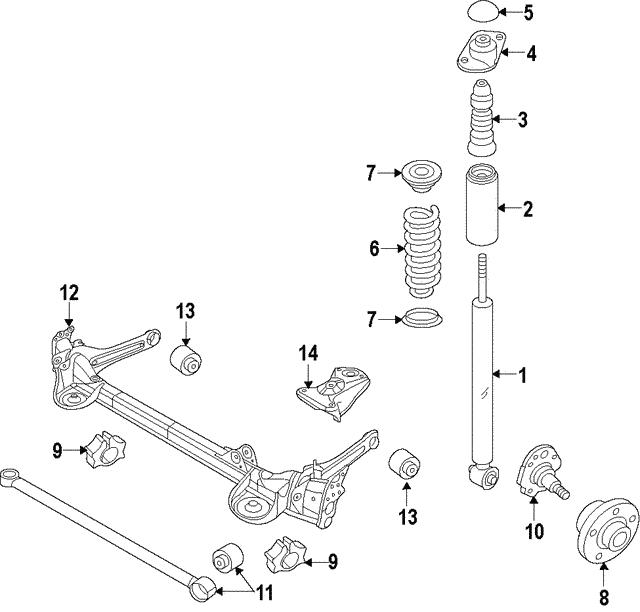 Genuine Oem Axle Beam Bushing Part 5c0 501 541 A Fits