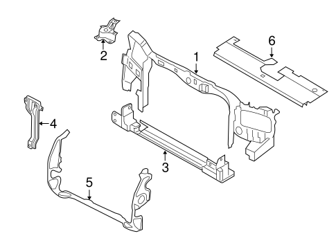 Radiator Support For 2011 Ford Escape