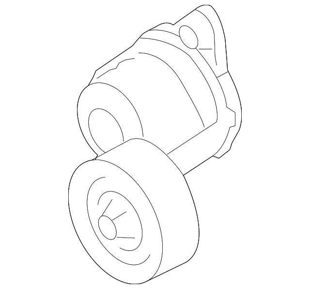 2014 Scion Iq Transmission: Serpentine Tensioner - Subaru (23769AA010)
