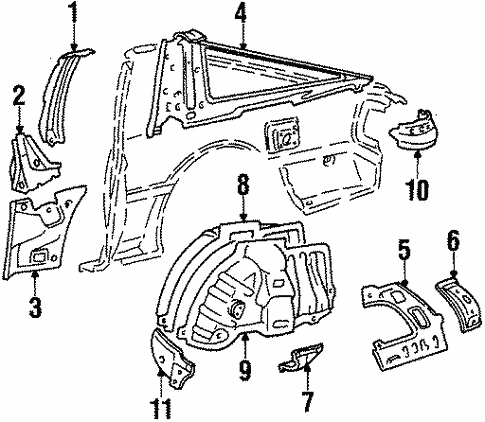 Body/Inner Components for 1986 Toyota Supra #2