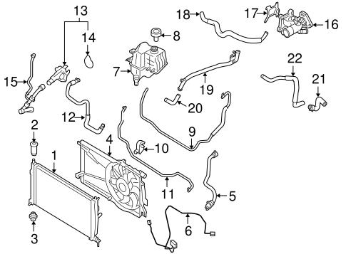 genuine oem radiator \u0026 components parts for 2008 mazda 3 mazdaspeed Mazda 3 Engine Mount Diagram cooling system radiator \u0026 components for 2008 mazda 3