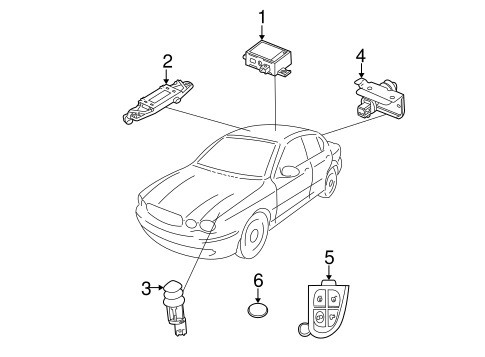 Anti Theft Components For 2003 Jaguar X Type