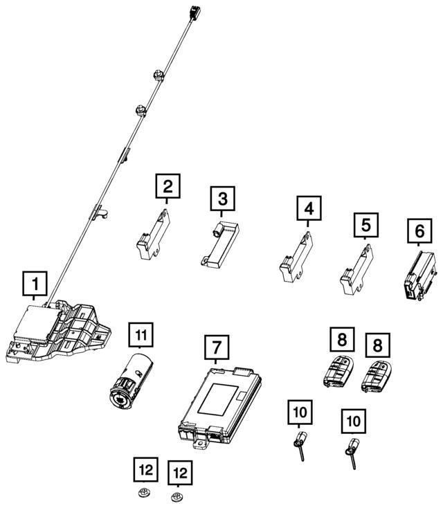 Remote Start And Keyless Entry Antenna