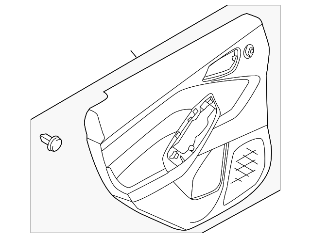 Ford Focus Rh Right Passenger Side Rear Door Trim Dm5z5827406ga: Ford Focus Rear Door Parts Diagram At Downselot.com