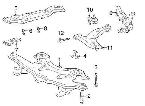 Oem 2006 Pontiac Vibe Suspension Components Parts