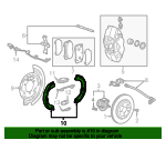 Park Brake Shoes - GM (22857907)