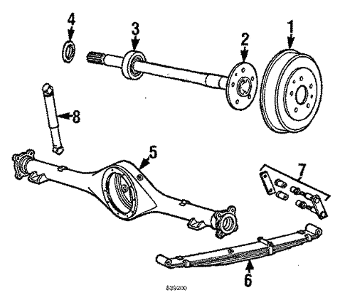Rear Suspension For 1987 Toyota Pickup