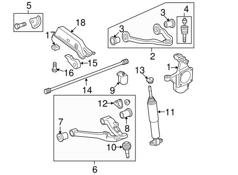 oem 2008 chevrolet silverado 3500 hd suspension components. Black Bedroom Furniture Sets. Home Design Ideas