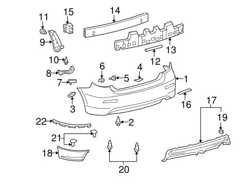 Genuine Oem Bumper Components Rear Parts For 2010 Toyota Matrix