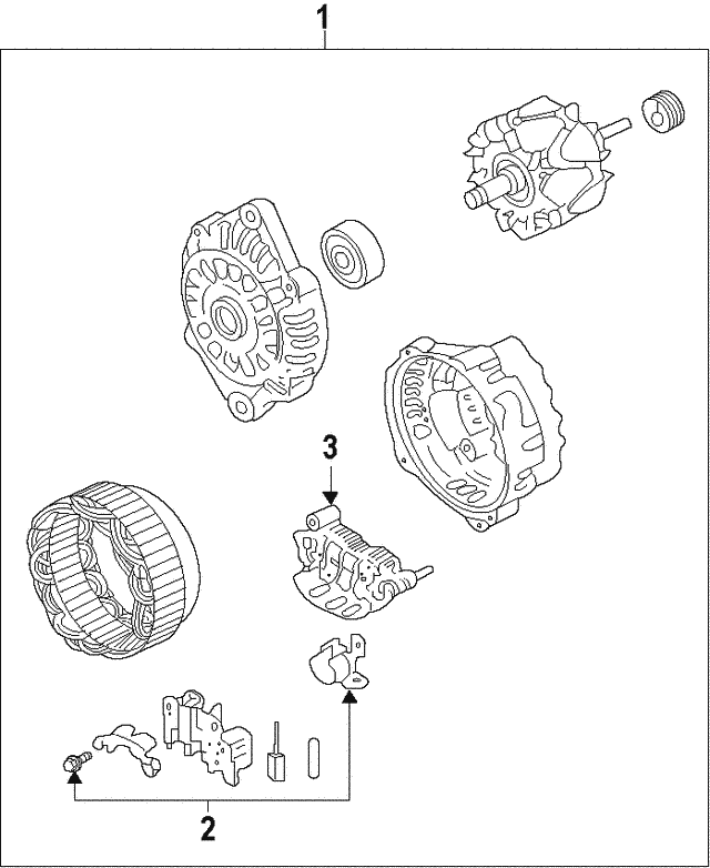 2013 2015 Subaru Voltage Regulator 23815aa280