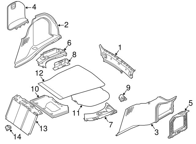 2002 2008 bmw front cover 51 47 8 251 272 germain bmw parts A C Condenser Parts Diagram
