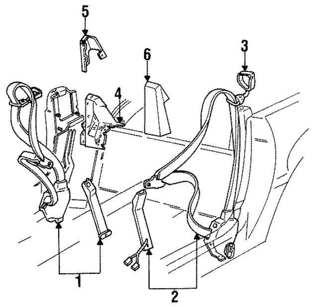 Belt - Passenger Side (RH) - GM (12516944)