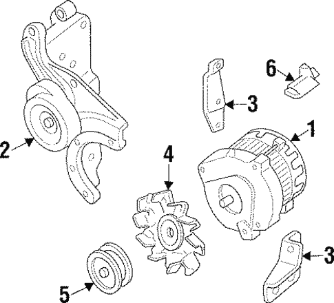 Alternator For 1992 Chevrolet Beretta Gt