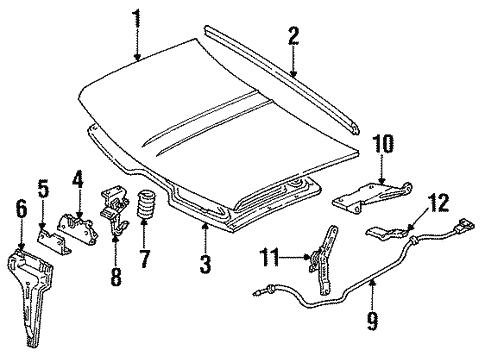 Oem 1995 Gmc Suburban K2500 Hood Components Parts
