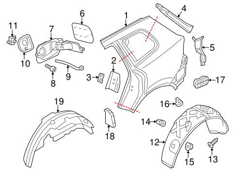 Quarter Panel Components For 2014 Volkswagen Touareg